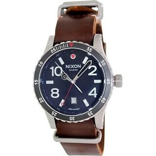 Nixon Men's Diplomat A269019 Brown Leather Swiss Quartz Watch with Black Dial