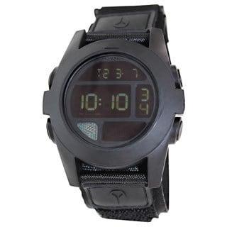 Nixon Men's Baja A489001 Black Cloth Quartz Watch with Digital Dial