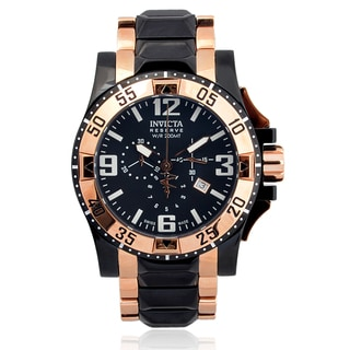 Invicta Men's 0203 Stainless Steel 'Excursion' Chronograph Watch