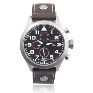 Invicta Men's 0352 Leather 'I-Force' Chronograph Quartz Watch