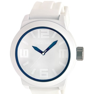 Kenneth Cole Reaction Men's Reaction RK1243 White Silicone Analog Quartz Watch with White Dial