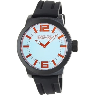 Kenneth Cole Reaction Men's RK1325 Black Silicone Analog Quartz Watch with Blue Dial