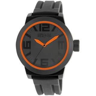 Kenneth Cole Reaction Men's Reaction RK1236 Black Silicone Analog Quartz Watch with Black Dial