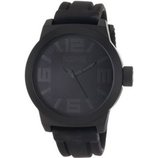 Kenneth Cole Reaction Men's Reaction RK1227 Black Silicone Analog Quartz Watch with Black Dial
