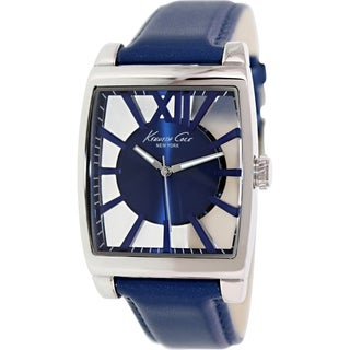 Kenneth Cole Men's KC8050 Blue Leather Quartz Watch with Blue Dial