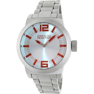 Kenneth Cole Reaction Men's RK3232 Silvertone Stainless Steel Quartz Watch with Silvertone Dial