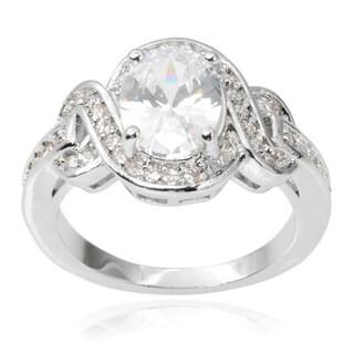 Journee Collection Brass Cubic Zirconia Wedding Ring