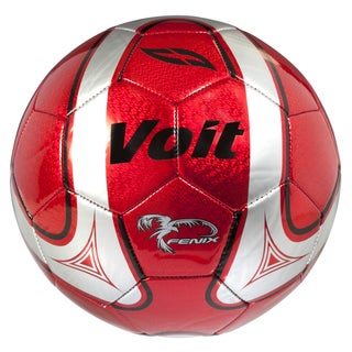 Voit Size 5 Fenix Soccer Ball Deflated - Red and Silver