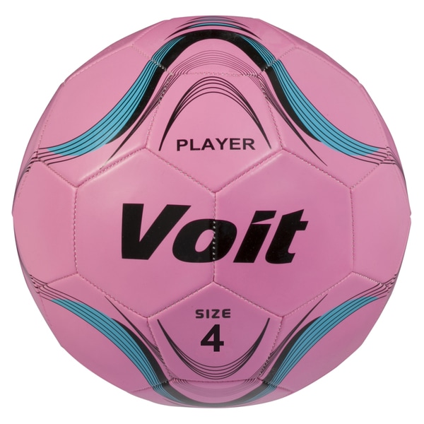 Voit Size 4 Player Soccer Ball Deflated - Neon Pink