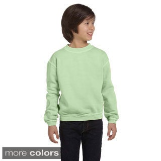 Youth Pigment-dyed Ringspun Cotton Fleece Crew