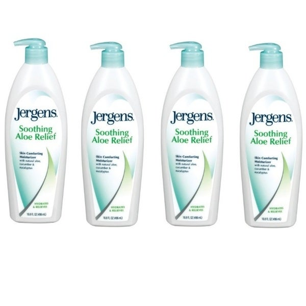 Jergens Soothing Aloe Relief Skin Cooling 10-ounce Moisturizer (Pack of 4)