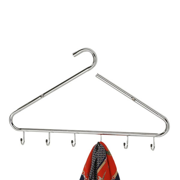 Chrome Finish 6-hook Wall Hanger