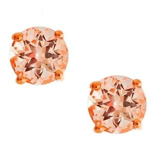 Anika and August 10K Rose Gold Morganite Stud Earrings
