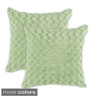 Rosebud Simply Soft 17-inch Throw Pillows (Set of 2)