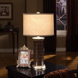 Brown Lamp with Gold Finish