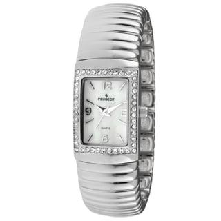Peugeot Women's 7081S Spiral Link Silvertone Expansion Bracelet Watch