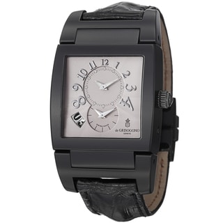 De Grisogono Men's UNODF N05 'Instrmento' Grey Dial Black Leather Strap Watch