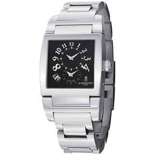 De Grisogono Men's UNODF N07B 'Instrmento' Black Dial Stainless Steel Watch