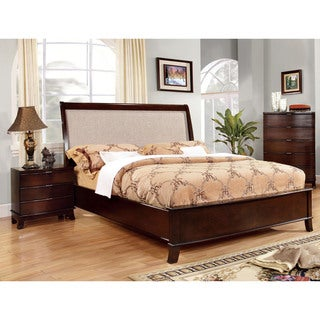 Furniture of America Lenheart Contemporary 2-Piece Bed with Nightstand Set