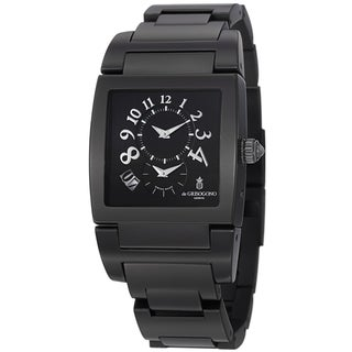 De Grisogono Men's UNODF N04B 'Instrmento' Black Dial Black Stainless Steel Watch