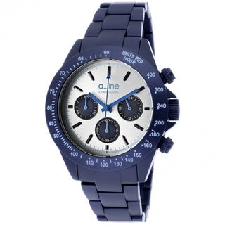 A Line Women's AL-20050-NB-SL Amore Silvertone Dial Blue Stainless Steel Watch