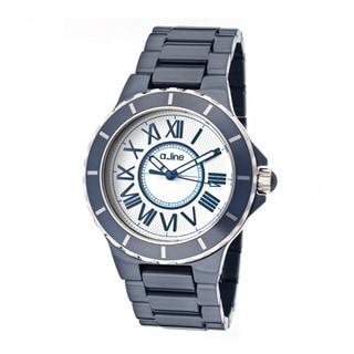 A Line Women's AL-20040-NBWSR Marina Blue Ceramic Stainless Steel Watch
