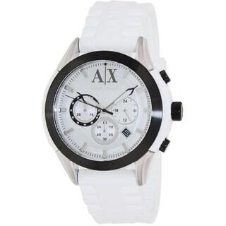 Armani Exchange Men's AX1225 White Silicone Quartz Watch with White Dial