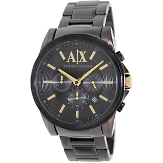 Armani Exchange Men's AX2094 Black Stainless Steel Quartz Watch with Black Dial