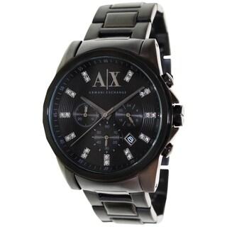 Armani Exchange Men's AX2093 Black Stainless Steel Quartz Watch with Black Dial