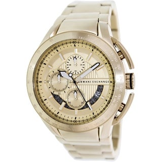 Armani Exchange Men's AX1407 Goldtone Stainless Steel Quartz Watch with Goldtone Dial