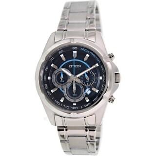 Citizen Men's AN8040-54L Silvertone Stainless Steel Quartz Watch with Black Dial