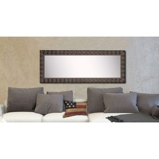 American Made Rayne Dark Feathered Floor Mirror