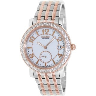 Citizen Women's Eco-Drive EV1016-58A Two-Tone Stainless Steel Eco-Drive Watch with White Dial