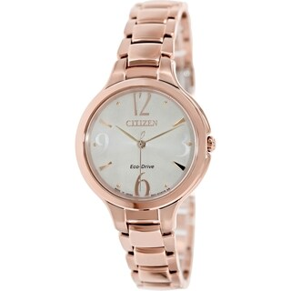 Citizen Women's Eco-Drive EP5992-54P Goldtone Stainless Steel Eco-Drive Watch with Silvertone Dial