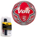 Voit Size 5 Radente Soccer Ball with Ultimate Inflating Kit - Red