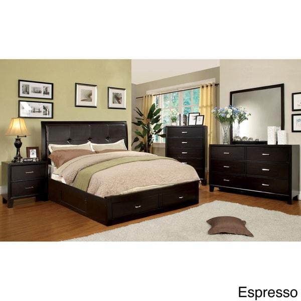 Furniture of america york storage platform bed 16406205 for Furniture of america reviews