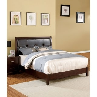 Furniture of America Sunjan Brown Cherry Platform Bed