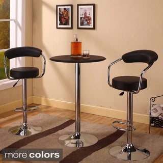 Modern Height-adjustable Swivel Bar Stools (Set of 2)