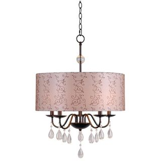 Arp 5-light Oil Rubbed Bronze Pendant Chandelier