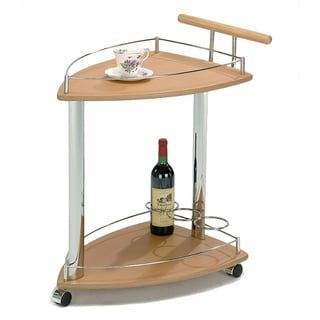 Natural/ Chrome Serving Cart