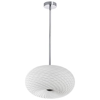 Dainolite 3-light Mackerel Glass/ Satin Chrome Pendant