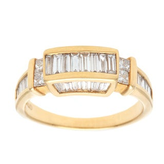18k Yellow Gold 1 1/4ct TDW Diamond Band Estate Ring (H-I, VS1-VS2)