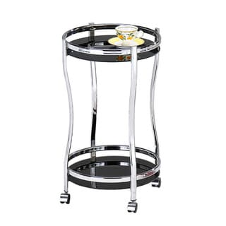 Tempered Glass/ Chrome Kitchen Service Cart
