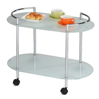Glass/ Chrome Kitchen Service Cart