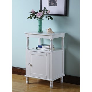 White Single-shelf Side Table