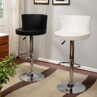 Height-adjustable Chrome and Leatherette Swivel Bar Stool