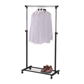 Black Rolling Garment Trolley