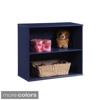 Open-front Dual Shelf Storage Unit