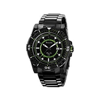Bulova Men's 98B178 Marine Star Black Ion-plated Watch