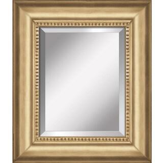 Yosemite Goldtone Bordered Mirror